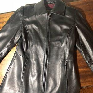 Black Super Soft Leather Jacket!
